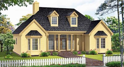 Affordable Country Home Plan - 3837JA thumb - 07