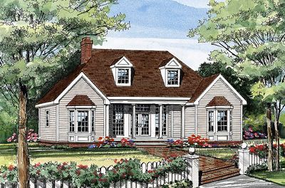 Affordable Country Home Plan - 3837JA thumb - 16
