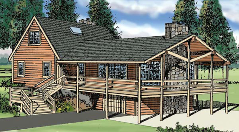 Rustic Vacation Retreat 3843ja Architectural Designs