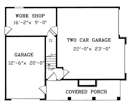 Garage with a fabulous guest apartment above 3849ja for Guest apartment floor plans