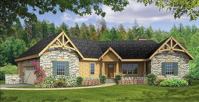 Lovely Rustic Angled Ranch Home Plan 3877JA | Architectural Designs . Part 31