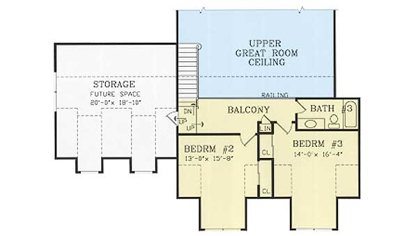 Country house plan with future expansion space 38808ja for House plans with future expansion