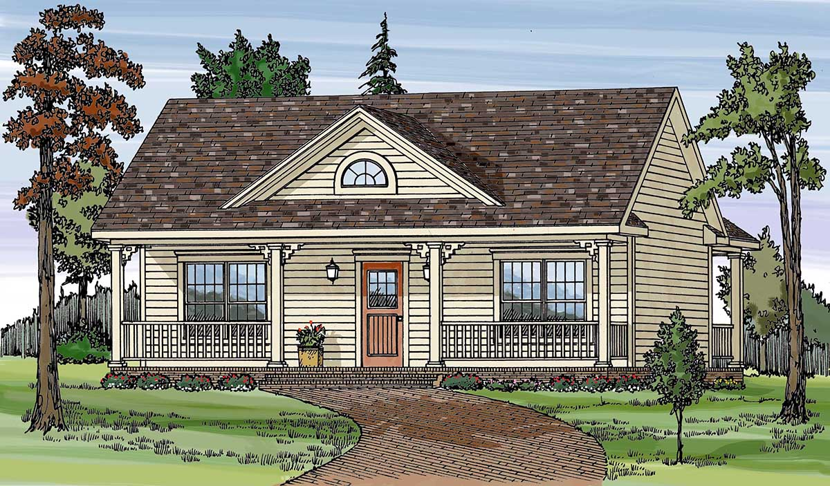 Two bedroom country getaway 38810ja architectural for 2 bedroom country house plans