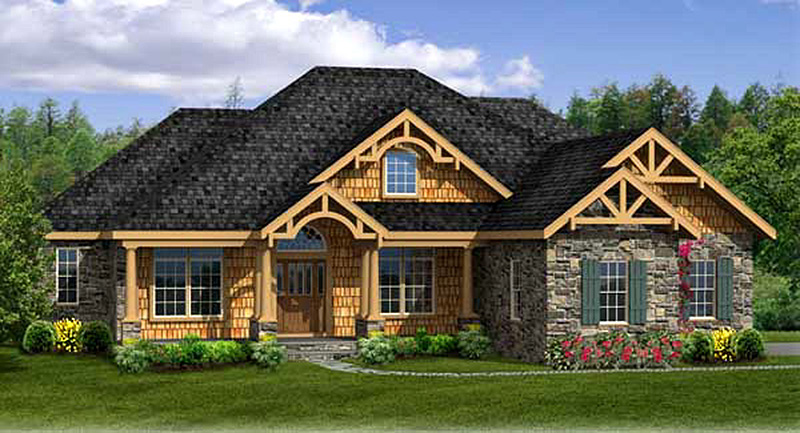 rustic house plan with walkout basement 3883ja