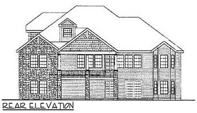rustic house plan with walkout basement 3883ja thumb 02
