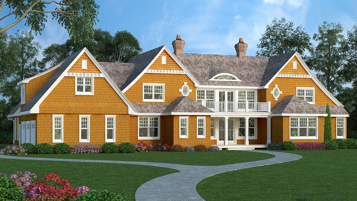 High End Shingle Style House Plan 3898ja 1st Floor
