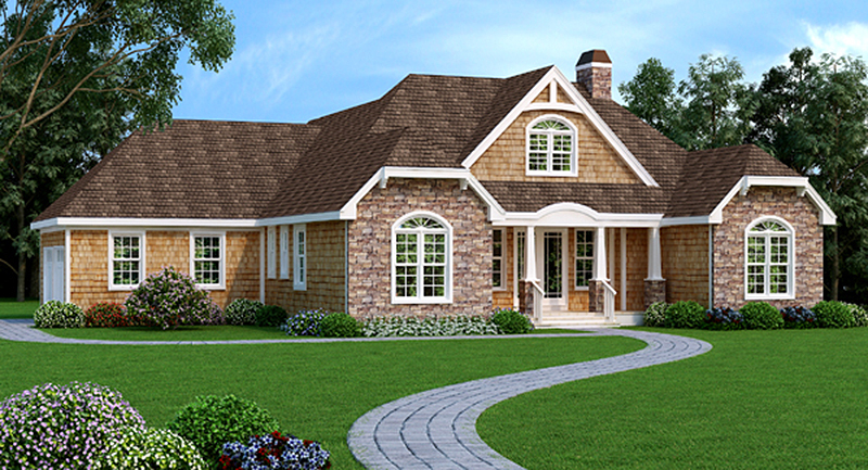 Ranch with open floor plan and bonus room 3899ja for Ranch style house plans with bonus room