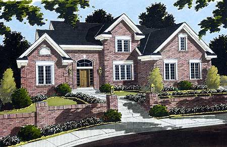 All Brick Exterior 39008st Architectural Designs