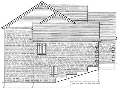 All brick exterior 39008st architectural designs for All brick