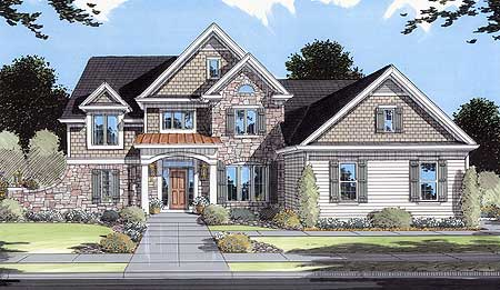 Two story foyer and great room 39029st architectural for 2 story great room house plans