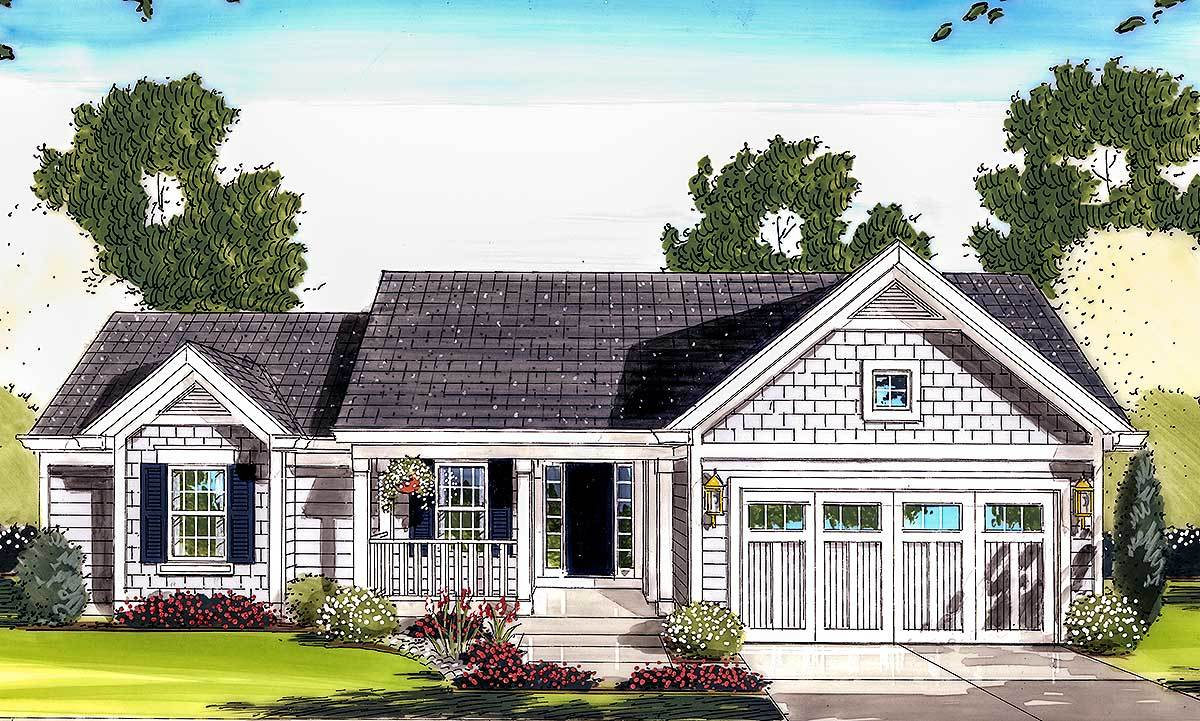 Charming One Level House Plan 39064st Architectural