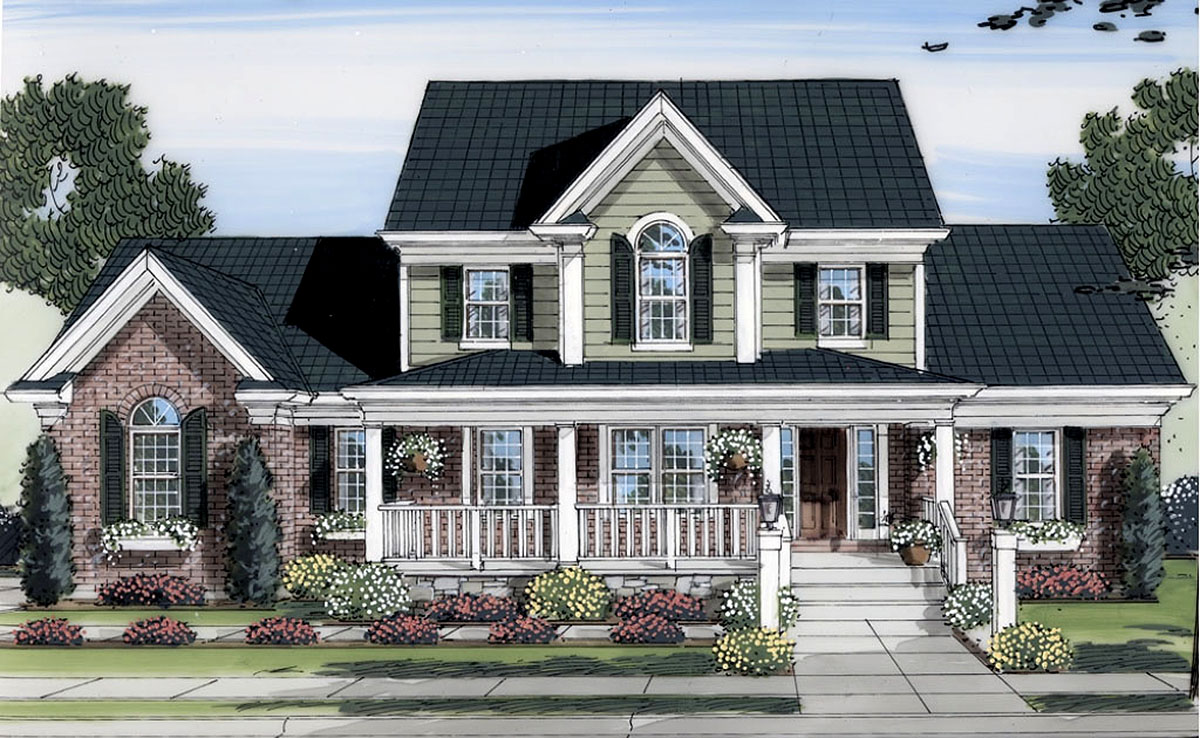 two story home lovely two story home plan 39122st architectural designs house plans 1746