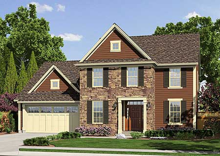Traditional two story home plan 39169st architectural for Traditional house plans two story
