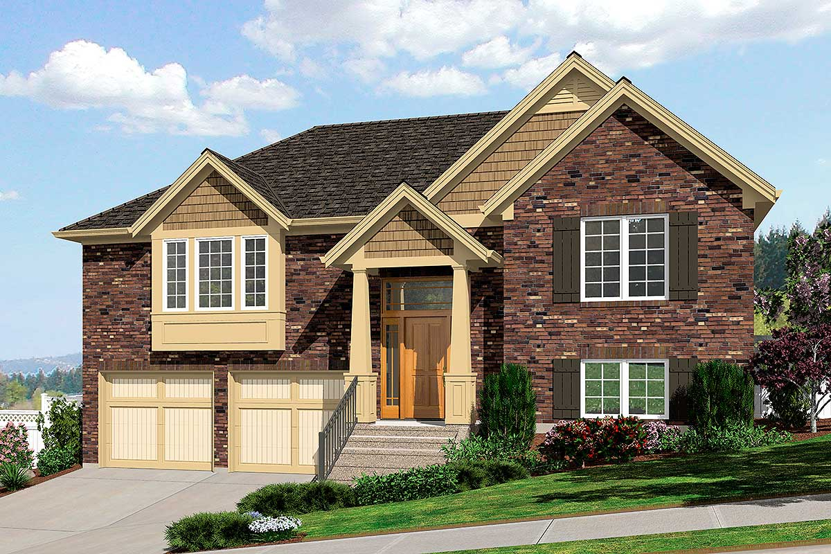 Bi-Level Home Plan - 39197ST