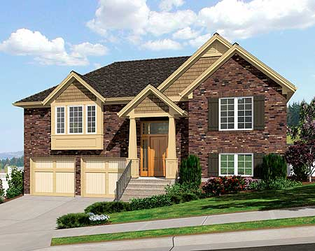 Bi Level Home Plan 39197st Architectural Designs