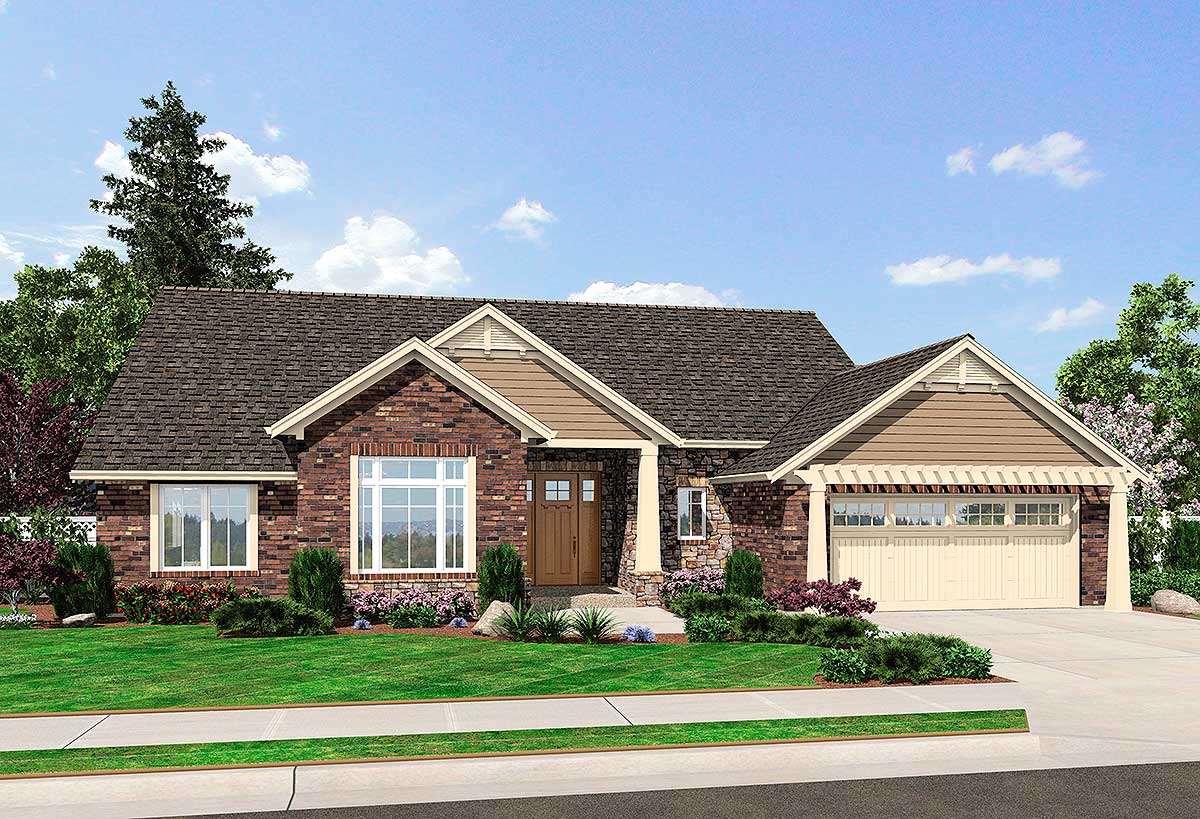 Comfortable ranch home plan 39198st architectural for Ranch house designs blog