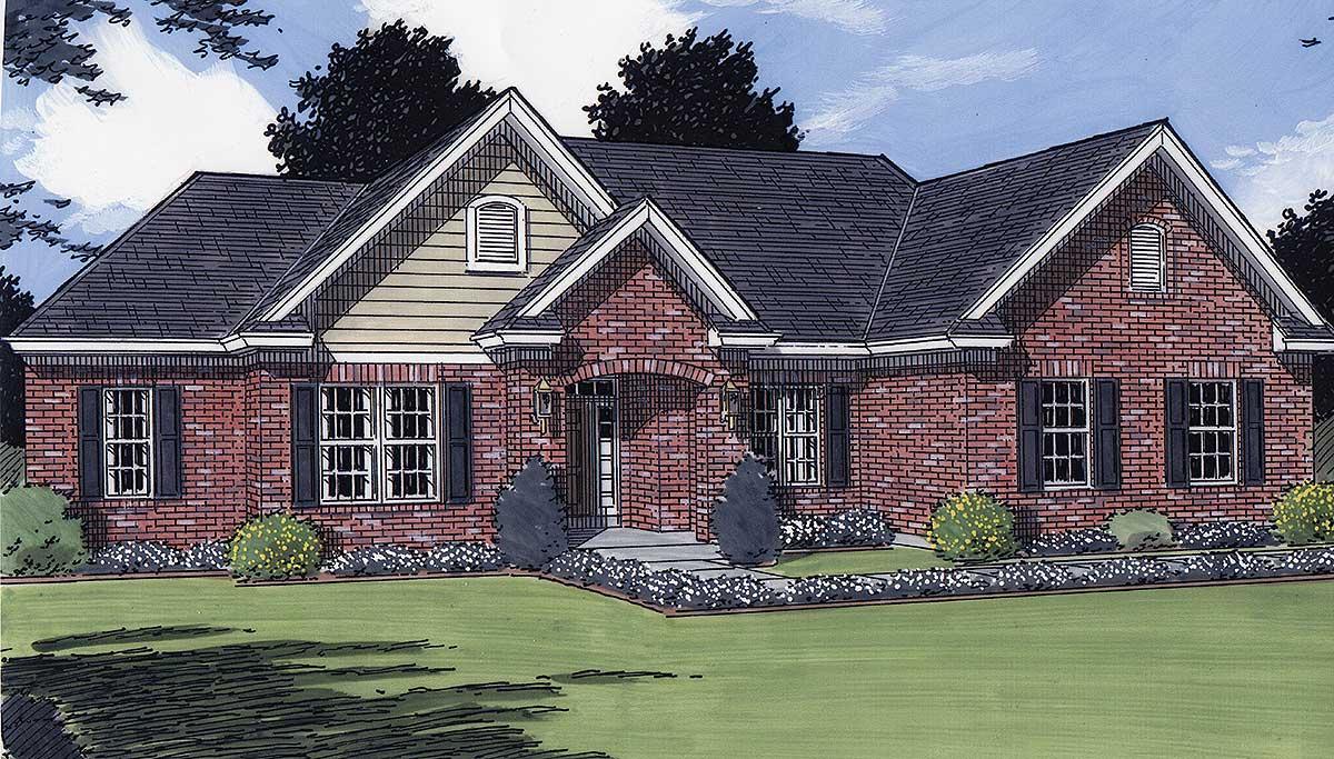 Charming Brick Ranch 3920st Architectural Designs
