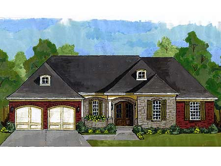 french country ranch 39203st architectural designs house plans - French Country Ranch House Plans