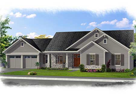Family-Friendly One Level Home Plan - 39223ST | Architectural ...