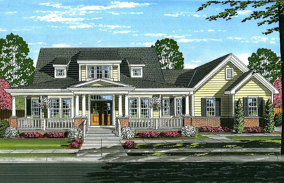 Warm and welcoming country house plan 39233st for Warm house design