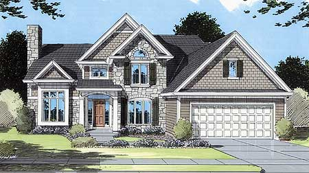 Stone And Siding Exterior 3957ST Architectural Designs House Plans