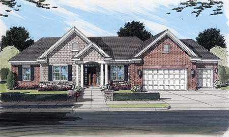 Beautiful brick and stone exterior 3984st for Beautiful brick and stone homes