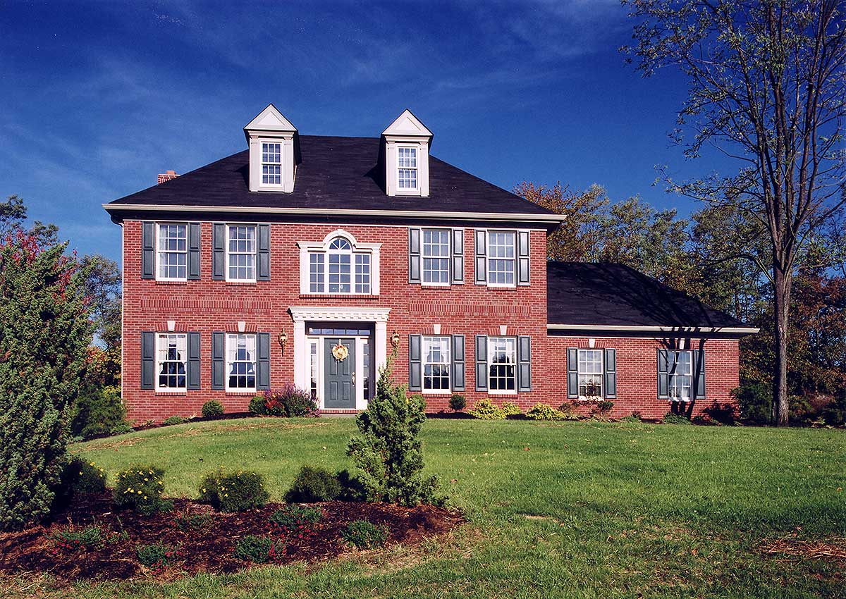 Classic colonial 3992st architectural designs house for Classic colonial home designs