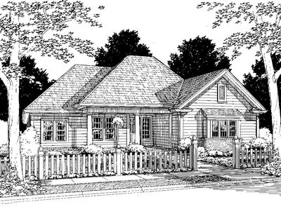 Southern Home with Options - 40099WM thumb - 02