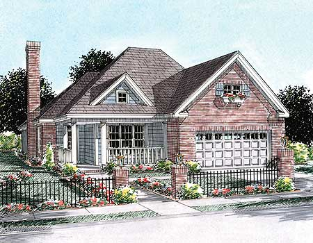 2 Bedoom Cottage With L Shaped Porch 40180wm