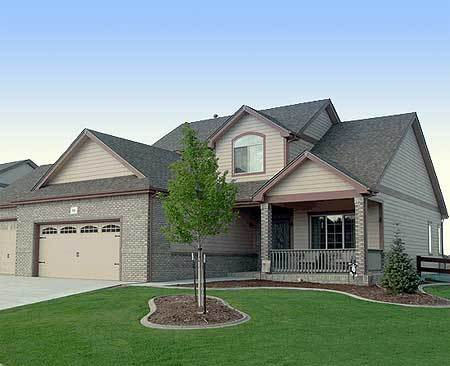 Great entertaining 40401db 1st floor master suite cad for Large home plans for entertaining
