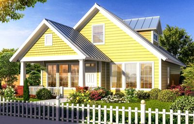 Flexible Two-Story Cottage - 40514WM thumb - 01
