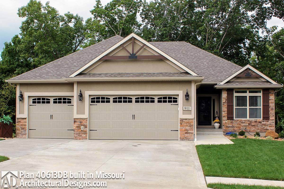House Plan  40613DB comes to life in Missouri - photo 001