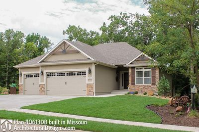 House Plan  40613DB comes to life in Missouri - photo 002