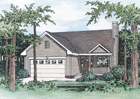 Structural insulated panel house plan 40829db for Structural insulated panel house kits