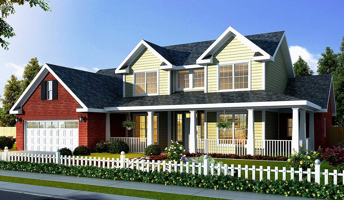 Farmhouse House Plan With Optional Game Room 40866wm 1st Floor Master Suite Bonus Room Cad
