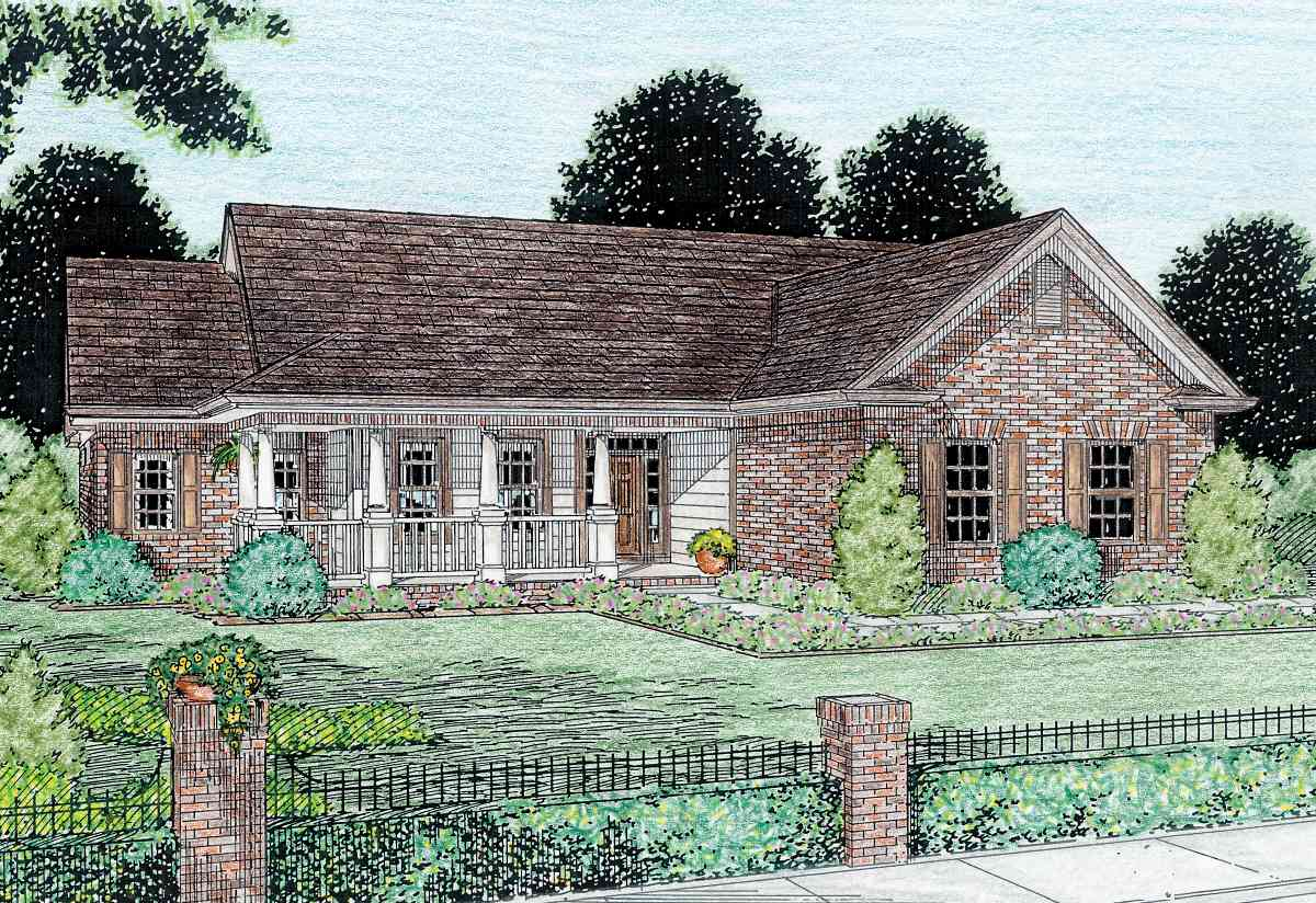 Traditional cottage 4100wm 1st floor master suite cad Traditional bungalow designs