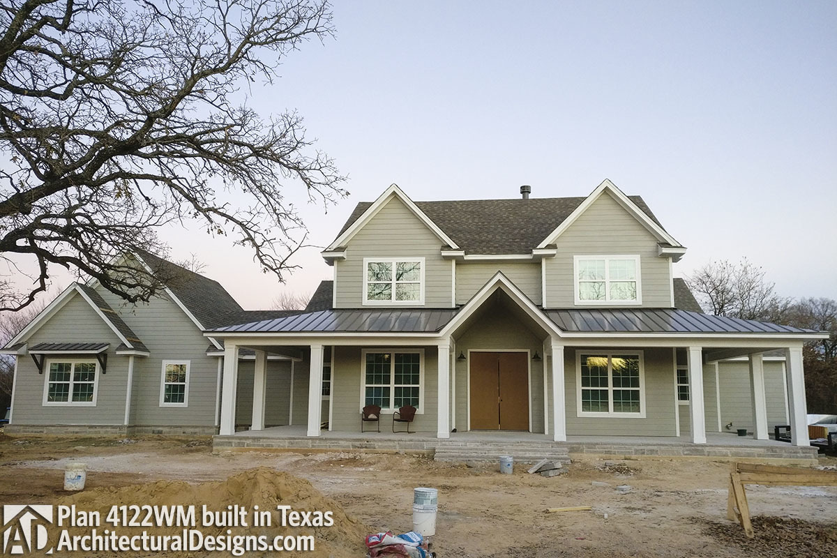 Farmhouse Plan 4122WM comes to life in Texas - photo 001
