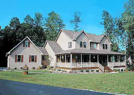Country Home Plan With Marvelous Porches - 4122WM | Architectural ...