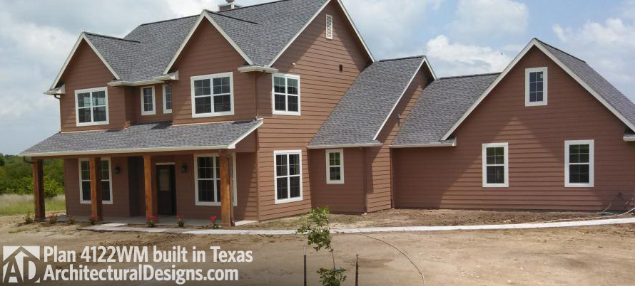 Awesome House Plan 4122WM Comes To Life In Texas!   Photo 001
