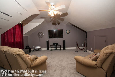 Photo House Plan 4122WM Comes To Life In Texas Again With An Expanded  Garage!