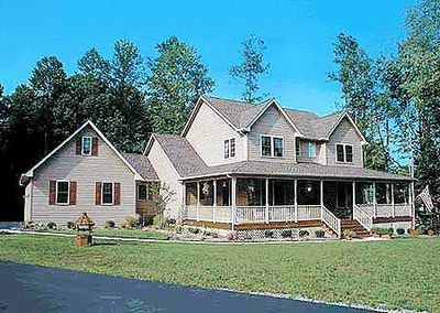 Country Home Plan With Marvelous Porches - 4122WM thumb - 01