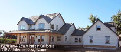 Beautiful Photo 001 House Plan 4122WM Built In Reverse In California!