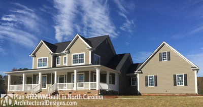 Country Home Plan With Marvelous Porches   4122WM Thumb   02 ...