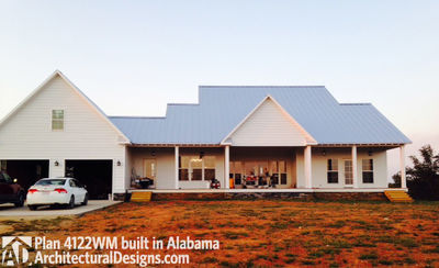 House plan 4122wm comes to life in alabama for Cost to build a house in alabama