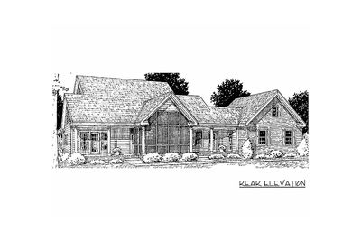 Country Home Plan With Marvelous Porches   4122WM Thumb   10