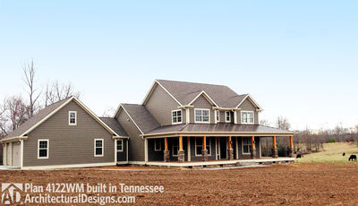 ... Country Home Plan With Marvelous Porches   4122WM Thumb   03 ...