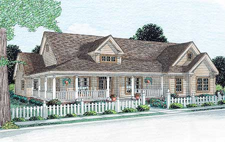 Spacious ranch house plan 4137db country farmhouse for Ranch house plans with bonus room