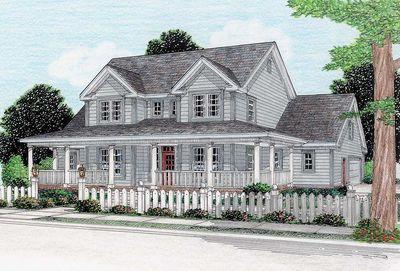 Farmhouse Design Has Three Porches - 4138WM thumb - 02