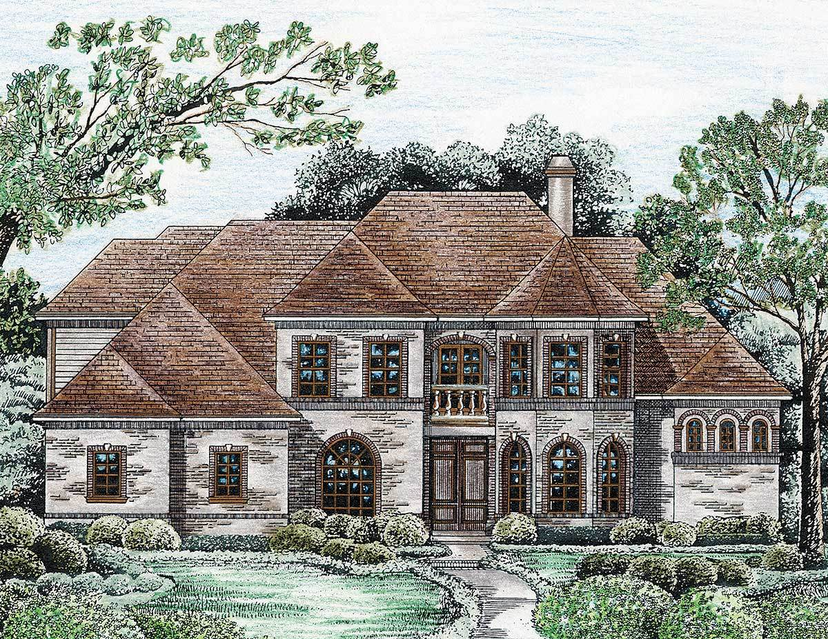 Castle like demeanor 4184db architectural designs for Castle like house plans