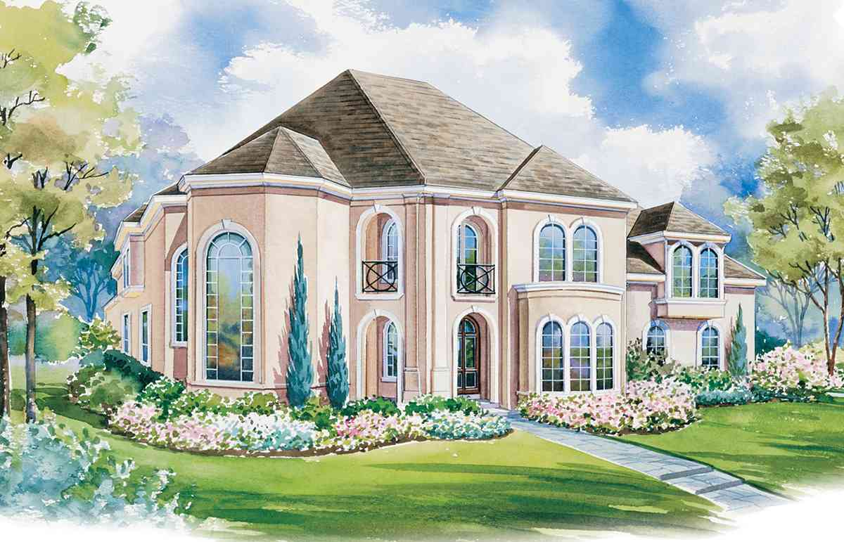Beautiful arched windows 41903db architectural designs for House plans with windows